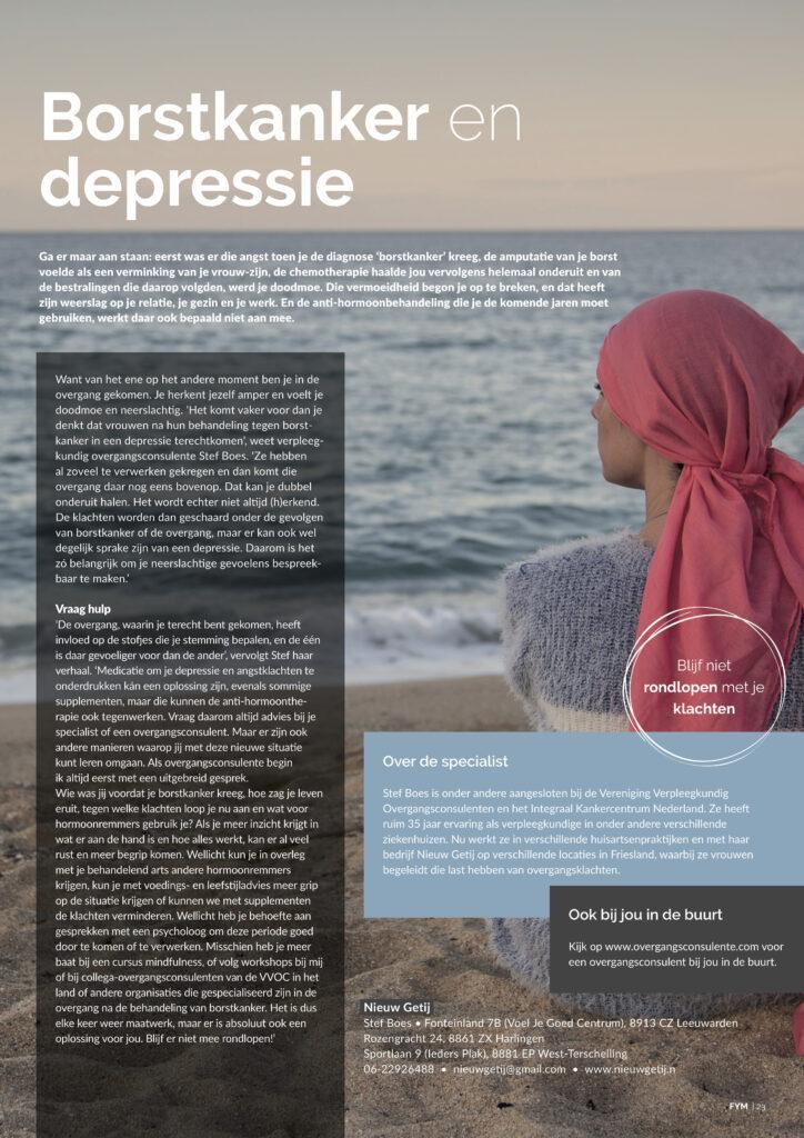 Borstkanker en depressie FYM Leeuwarden 2020-04 Nieuw Getij-2